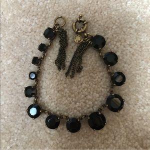 J.Crew Black Stone Bracelet